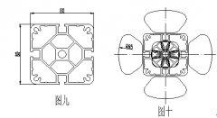 难挤压工业铝型材结构件模具设计图优化设计